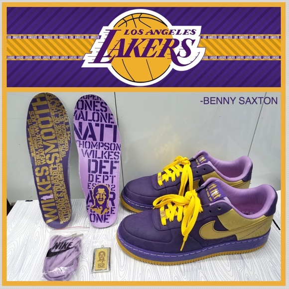 fashion style speical offer discount sale NIKE AIR FORCE ONE PREMIUM L.A. LAKERS